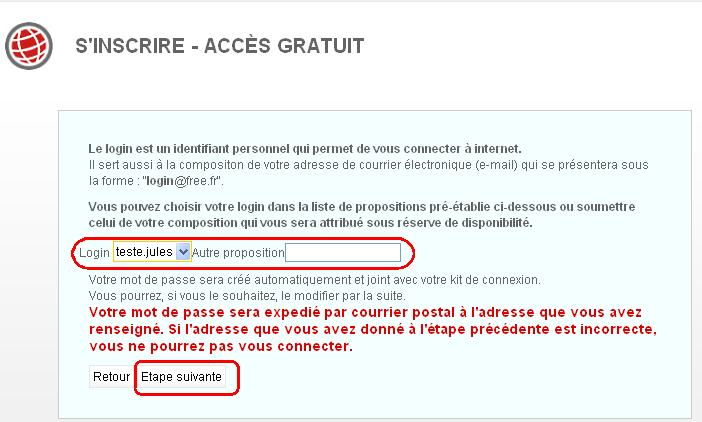 creer une boite mail avec free
